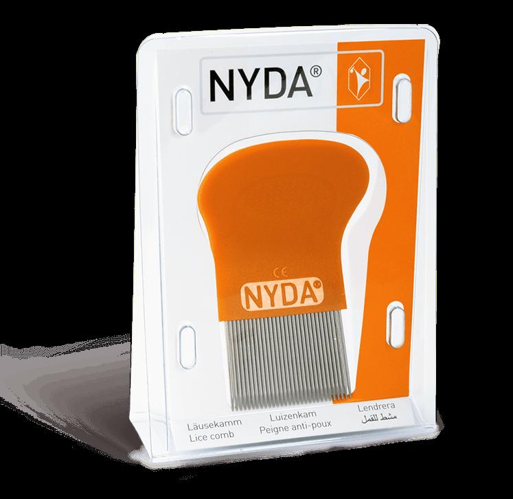 Verpackung NYDA® - Läuse- und Nissenkamm.